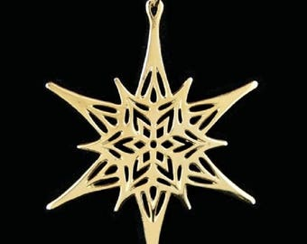 Metropolitan Museum of Art 1976 Sterling Silver with Gold Star Ornament
