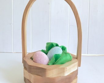 Flower Girl Basket - Centerpiece Basket - Easter Basket - Wooden Basket