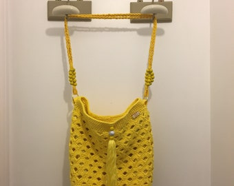 Sunshine yellow Tote Crochet bag