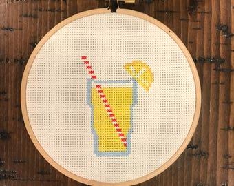Lemonade Cross Stitch