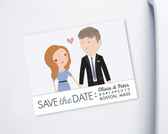 Save the Date Custom Cartoon printable design - Keep It Classy design