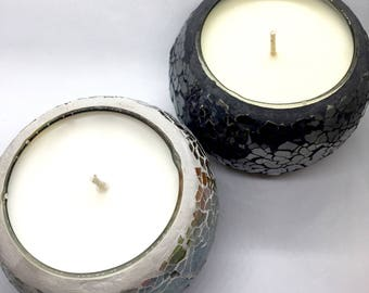 Soy Wax Candles in Mosaic Jars