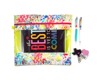 Rebecca Planner Pouch - Paintbrush - Erin Condren, Plum, Limelife, Emily Ley, InkWell, Happy Planners