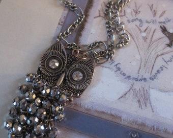 Owl pendant on chain