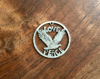 Vintage Real Hippie Love Peace Pendant