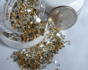 Mini Silver & Gold Metal Flake Confetti Glitter