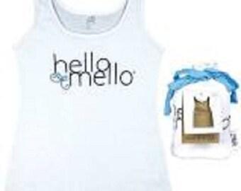 Hello Mello Lounge Wear White Tank