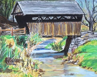 Covered Bridge in Early Spring