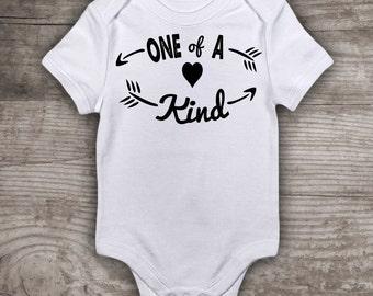 "First birthday shirt Milestone birthdays t-shirt Baby Bodysuit ""One of a kind"" birthday gifts 1st new baby gift- a472"
