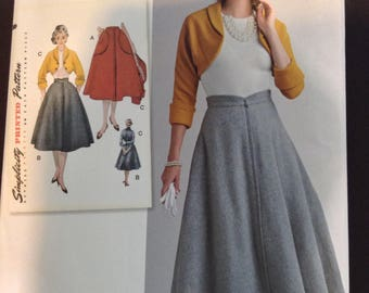 Mid century 1950s outfit pattern, Rockabilly skirt and top pattern