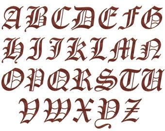 Old english number etsy old english alphabet clipart alphabet clip art stencil old deep copper letters altavistaventures Choice Image