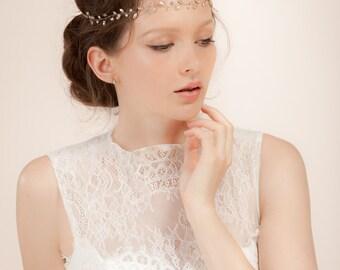 Bridal hair vine , bohemian wedding headpiece, simple crystal hair vine with Swarovski crystals, crystal headband  --  Style 327