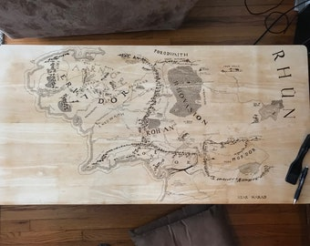 Lord of The Rings Map Coffee Table