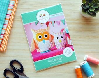 Owl Sewing Pattern HARD COPY Owl Softie Pattern Owl Stuffed Animal