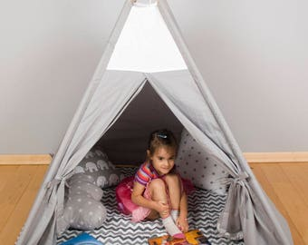 Kids Wigwam, Tipi Tent, Kids Teepee, Childrens fabric Teepee Tent For Kids, Kids Teepee Tent, Play Teepee, Canvas Teepee, cave play zone fun