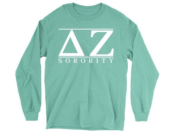 DZ Delta Zeta Script Choose Your Colors Sorority Sweatshirt Y2RzH0