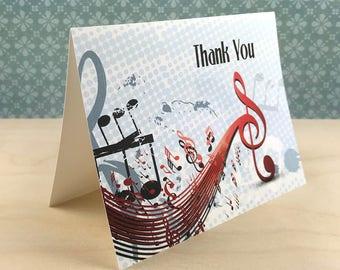 Music Theme Thank You Card