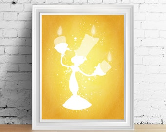 Disney Lumiere downloadable digital art print