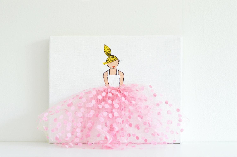 Cuadros Infantiles Decoraci N Infantil Rosa Pared Arte De # Muebles De Lady Lee