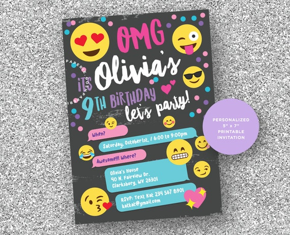 Free Birthday Emojis ~ Il o i shop emoji birthday party decorations