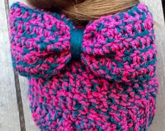 Messy Bun Bow Hat