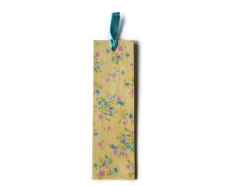 Wooden bookmark - wood bookmark - floral bookmark - flower bookmark - book lover gift - garden lover gift - unique bookmark - flower - flora