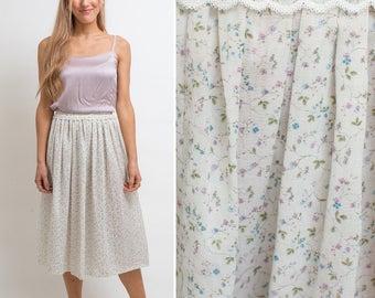 PRAIRIE Skirt Vintage Floral BOHEMIAN Hippie 70s boho floral prairie SKIRT