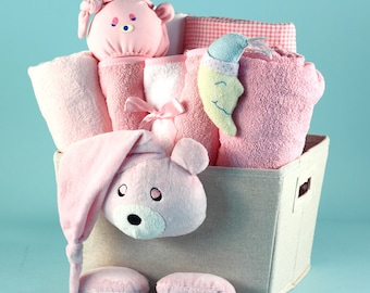 Bear Plush Baby Gift Basket