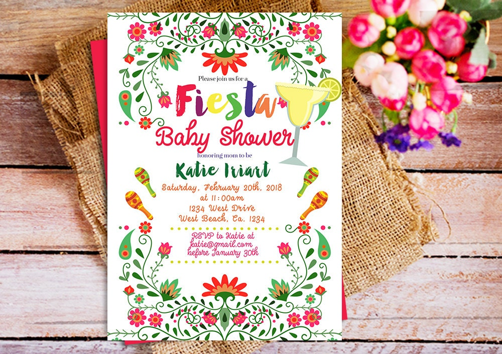 mexican baby shower invitation mexican theme baby shower