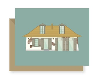 Lafitte's Blacksmith Shop Historic Bar, Building Architecture Louisiana, New Orleans Greeting Card