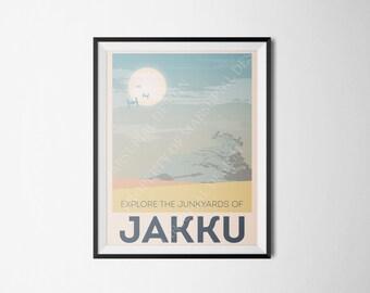 Star Wars Themed Jakku Travel Poster