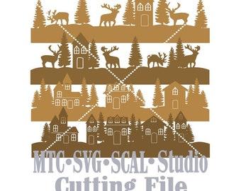 SVG Cut File Nature Borders Set #03 Cut Files Bundle of 4 MTC SCAL Cricut Silhouette Cutting File