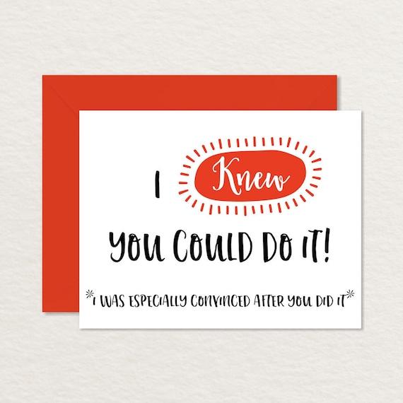 Funny Congratulations Card / Funny Graduation Card / Printable