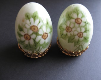 Vintage Hand-painted Salt and Pepper Shakers -