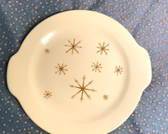 1960's Star Glow round platter with handles