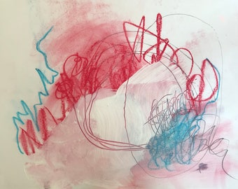 Abstract painting on paper - original