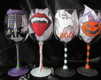 Halloween Glitter Glasses