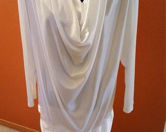Vintage White Cowl Neck Top/Dress