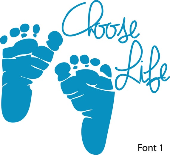 choose life decal vinyl stickerts anti abortion pro life rh etsy com pro life clipart free