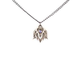 Lotus weckt Halskette in alten Stahl