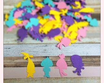 Trolls  Confetti - table decor  - Trolls Confetti - Table confetti - Birthday party Confetti - Party Confetti - 100 Pieces
