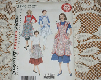 New Simplicity Apron Pattern 3544 Size s,m,l