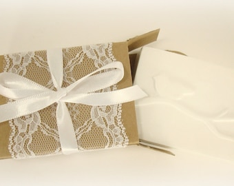 Bird Gift Box- White Lace - Bird Favor - Favors for Weddings, Showers, Gifts or Any Event!