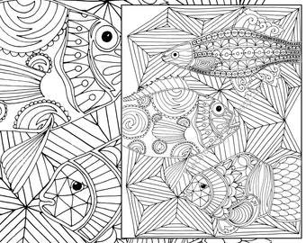 nautical adult coloring page ocean adult coloring sheet colouring sheet adult colouring book printable coloring digital coloring page