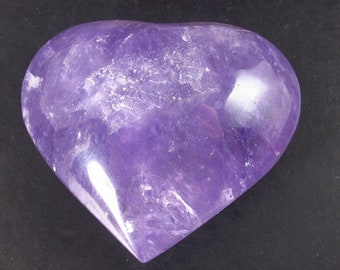 Large Gem Amethyst Heart From Brazil - 2.2""