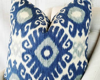 Pillow Cover Blue  Pillow Cover      Lumbar Accent Throw Cover Decorative Pillow 18x18 20x20 22x22 24x24 26x26