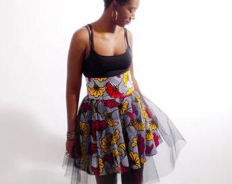 Wax peasant skirt