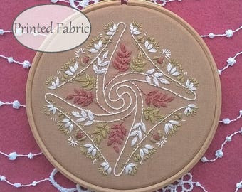 tendress - Pre Printed Fabric Pattern, DIY embroidery kit , hand Embroidery Pattern, Spring Gift Idea, Hand Embroidery Pattern