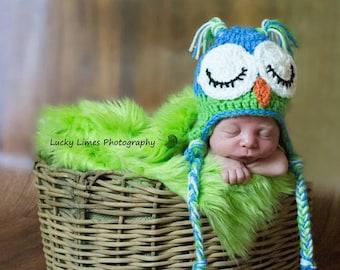 "Plush Shag Faux Fur |  Lime Green  18""x30""-  Newborn Photo Prop,Faux Fur Fabric Photo Prop Blanket, Basket Filler, Newborn Fur,Long Pile Fur"