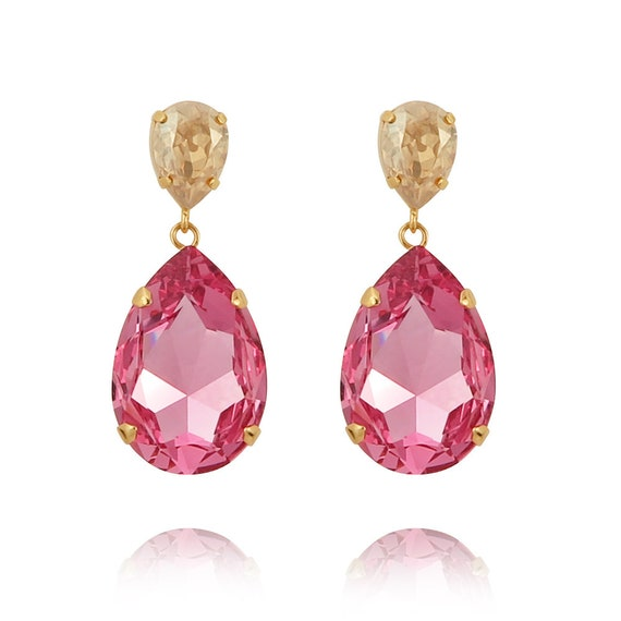 Classic Drop Earrings in Rose and Golden